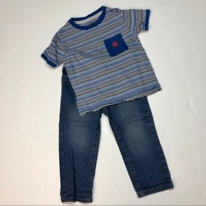 DKNY Jeans & T-shirt Outfit 24 month